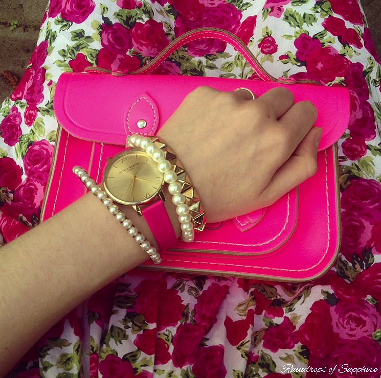 olivia burton pink watch The Summer Dress With The Pink Roses