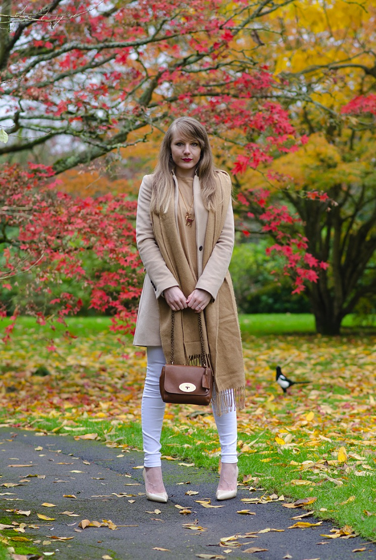 country fashion blogger bath autumn outfit Camel, Tan, Beige & White