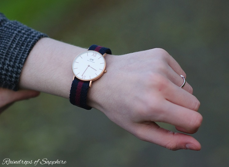 daniel wellington grace blue burgundy watch My New Daniel Wellington Grace London Watch