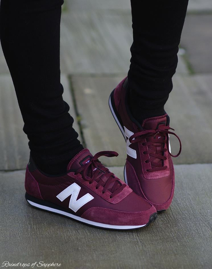 new balance 410 burgundy trainers sneakers - Raindrops of