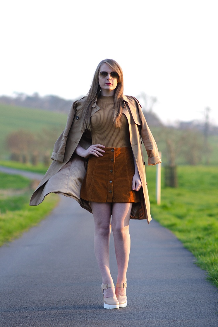 lorna-burford-topshop-brown-cord-skirt