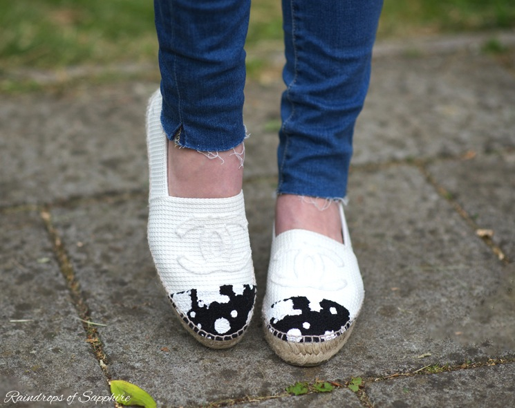ecfa25fabe13 My New Chanel Paint Splatter Canvas Espadrilles