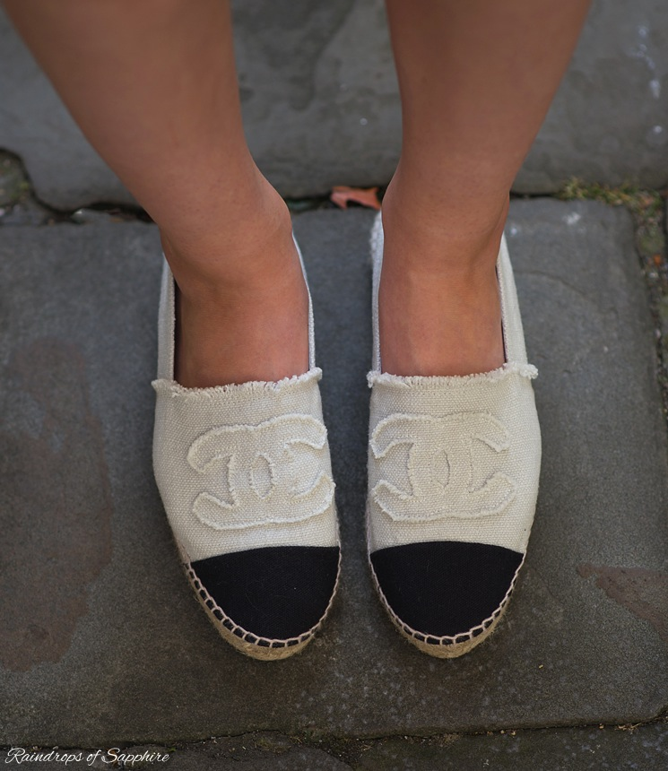 198cf49c0757 chanel-beige-black-canvas-espadrilles ...