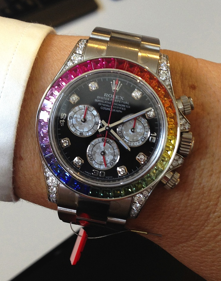 Часы Rolex White Gold Daytona Rainbow в Чернигове