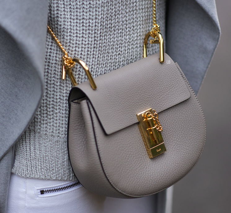 My New Chloe Mini Drew Bag In Motty Grey Raindrops Of