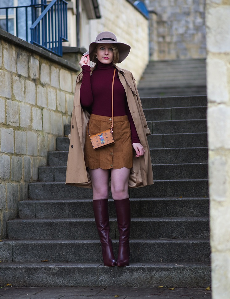 Fashion Blogger Knee Boots Skirt