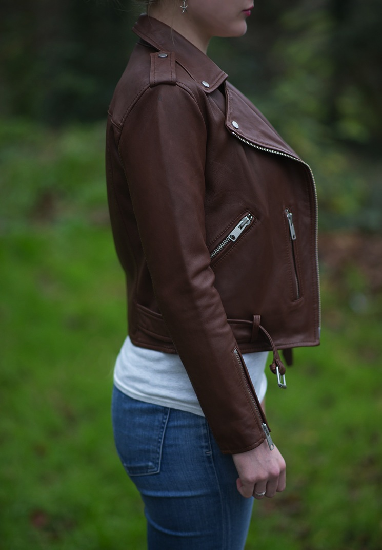 All Saints Balfern Sahara Leather Biker Jacket Review Blogger
