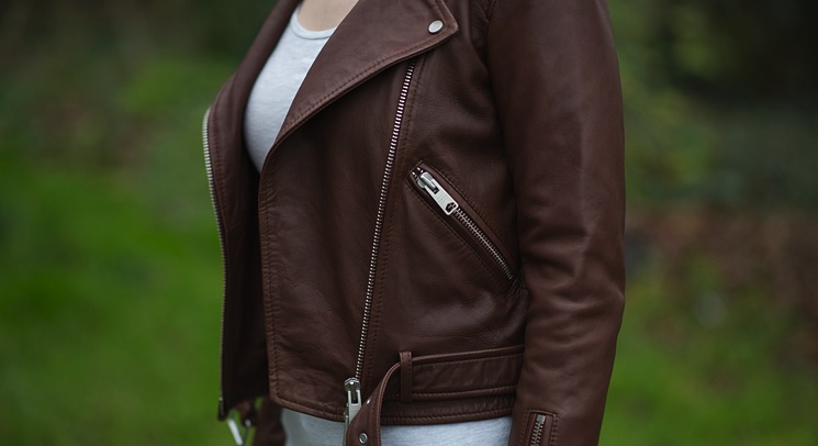 All Saints Balfern Sahara Leather Biker Jacket Review Fashion Blogger