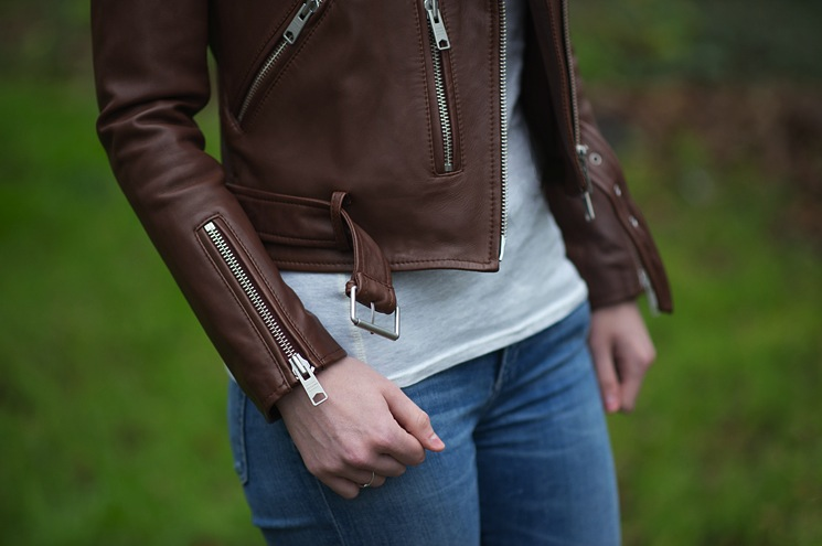 All Saints Balfern Sahara Leather Biker Jacket Review Fashion