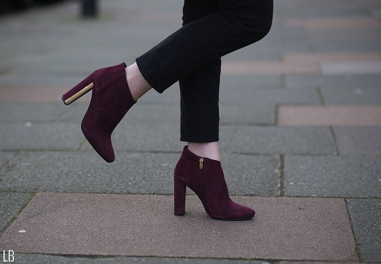 topshop burgundy boots