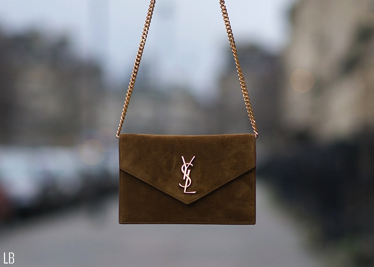 ysl brown clutch bag