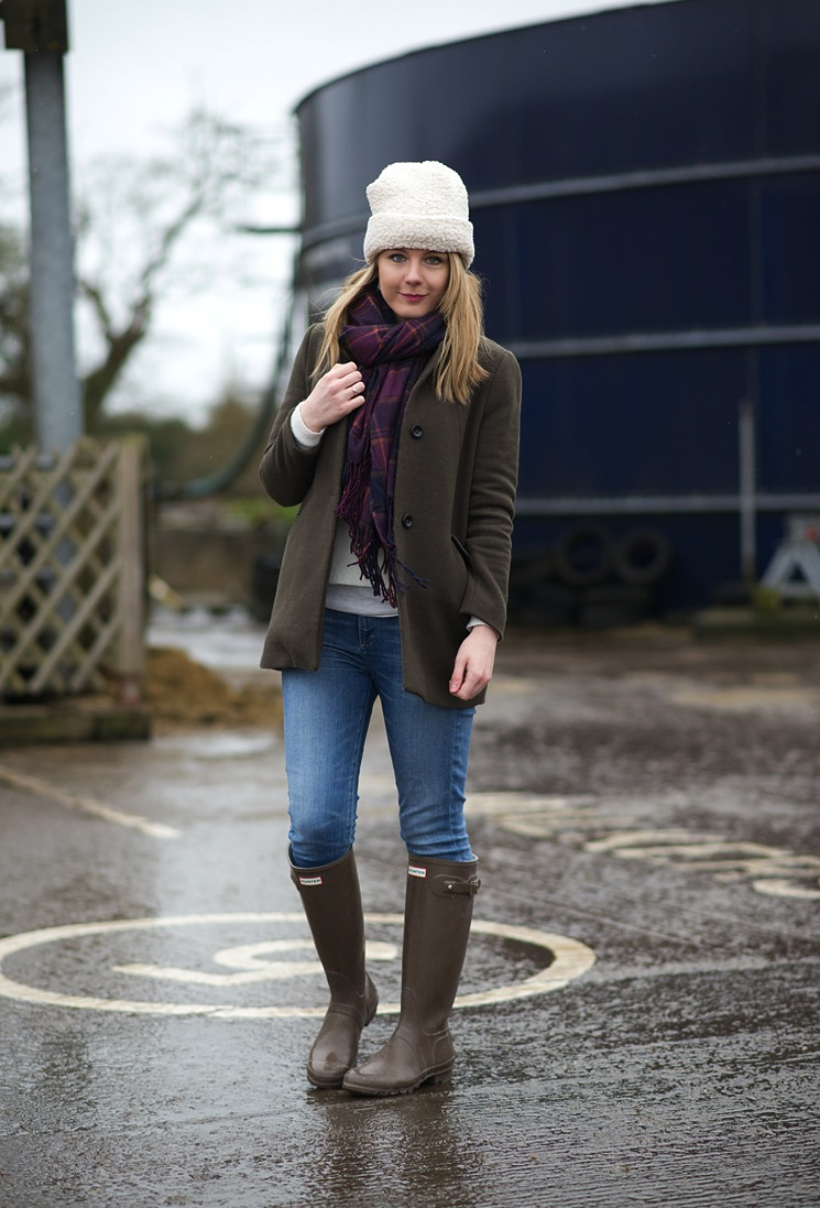 Down At The Farm In Hunter Wellies Raindrops Of Sapphire
