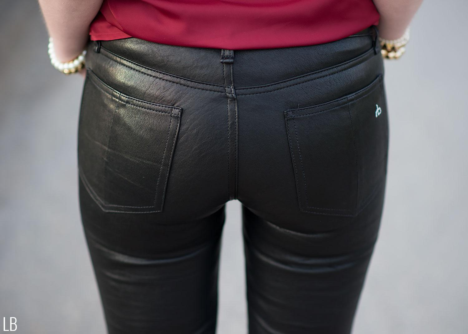 The Black Leather Pants Amp Maroon Lace Blouse Raindrops