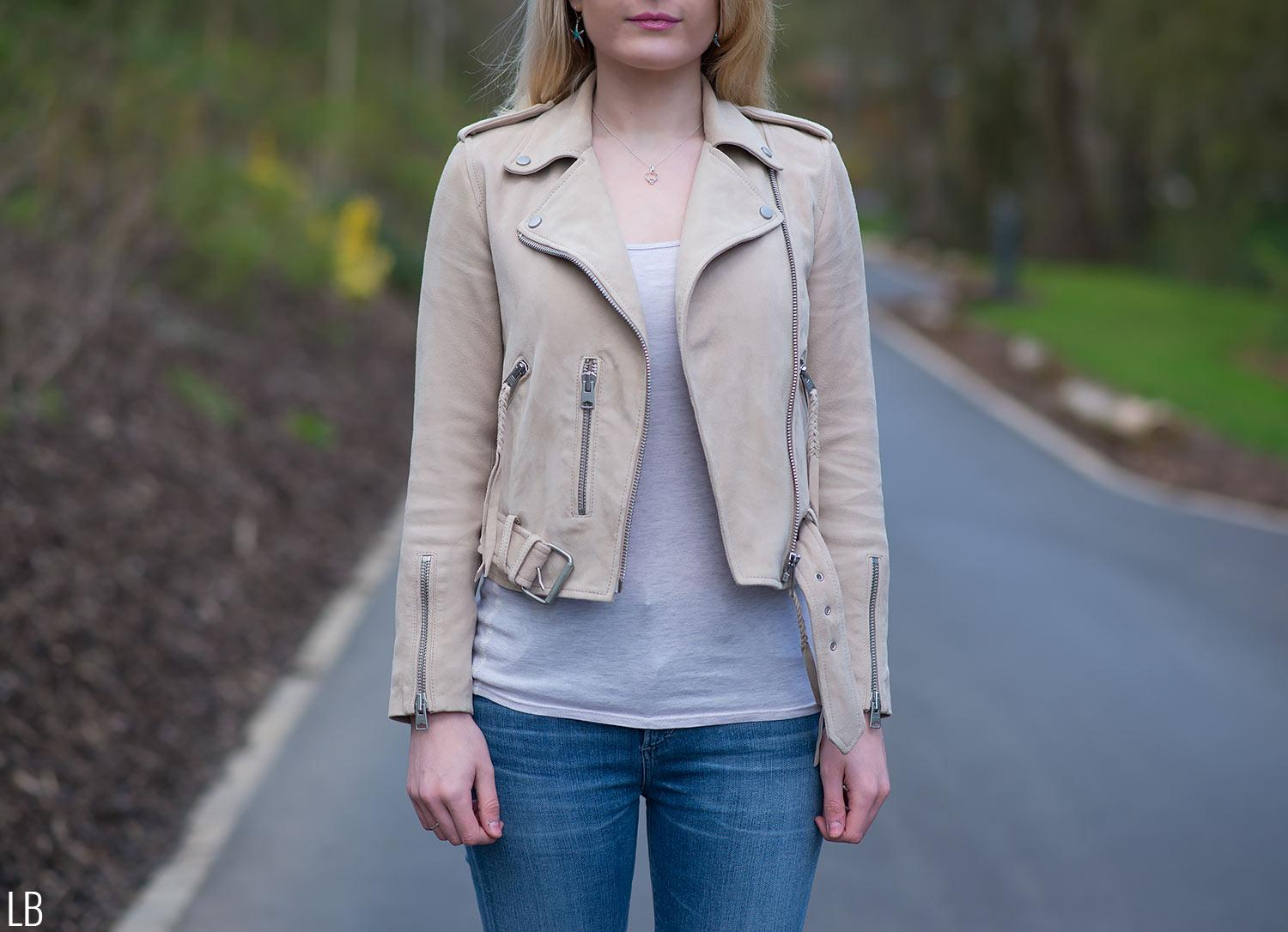 all saints plait balfern jacket nude pink review 7