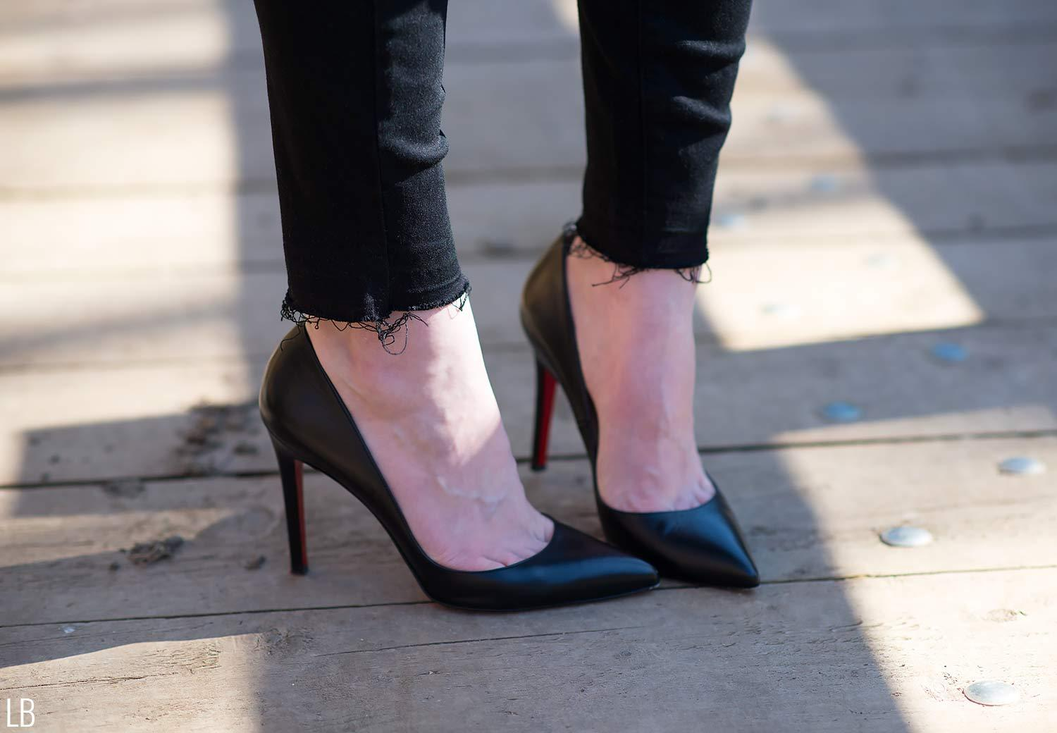 christian louboutin pigalle black shoes