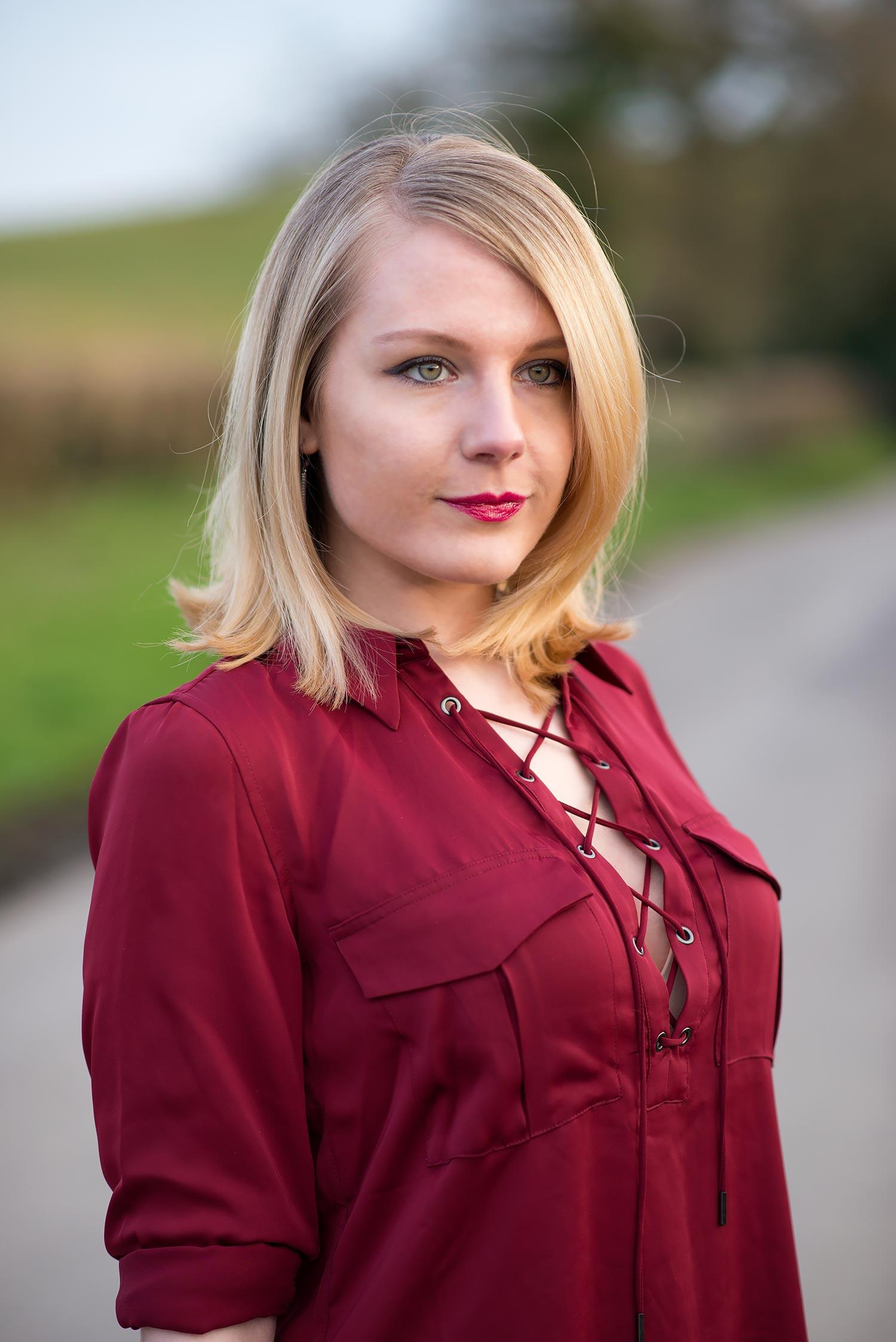 lorna burford in cross lace up blouse