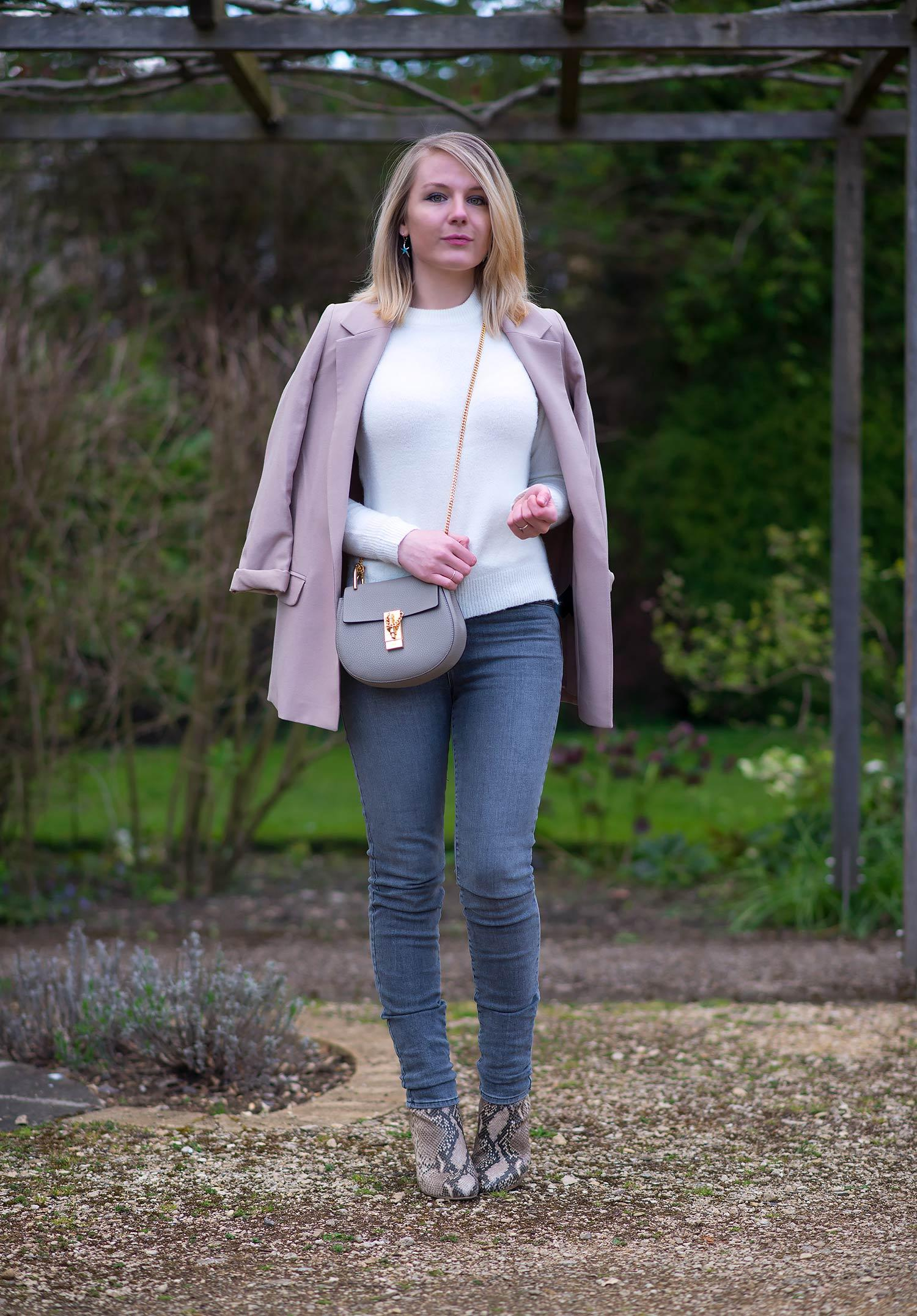 all-saints-pink-jacket-with-grey-jeans