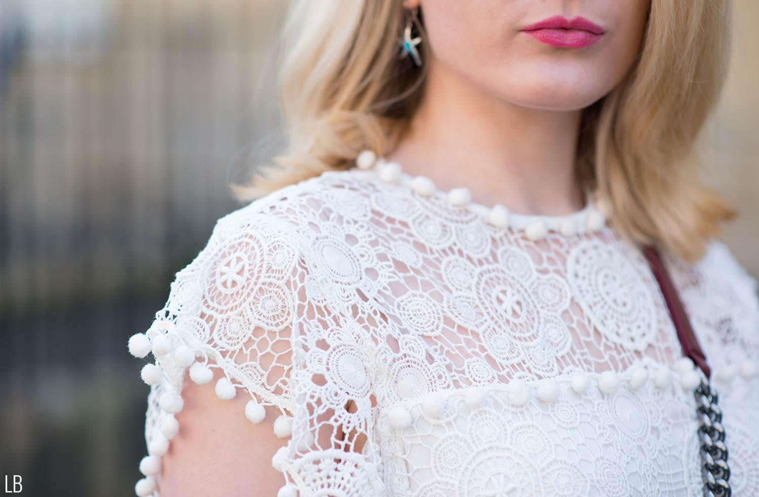 tularosa lace white top