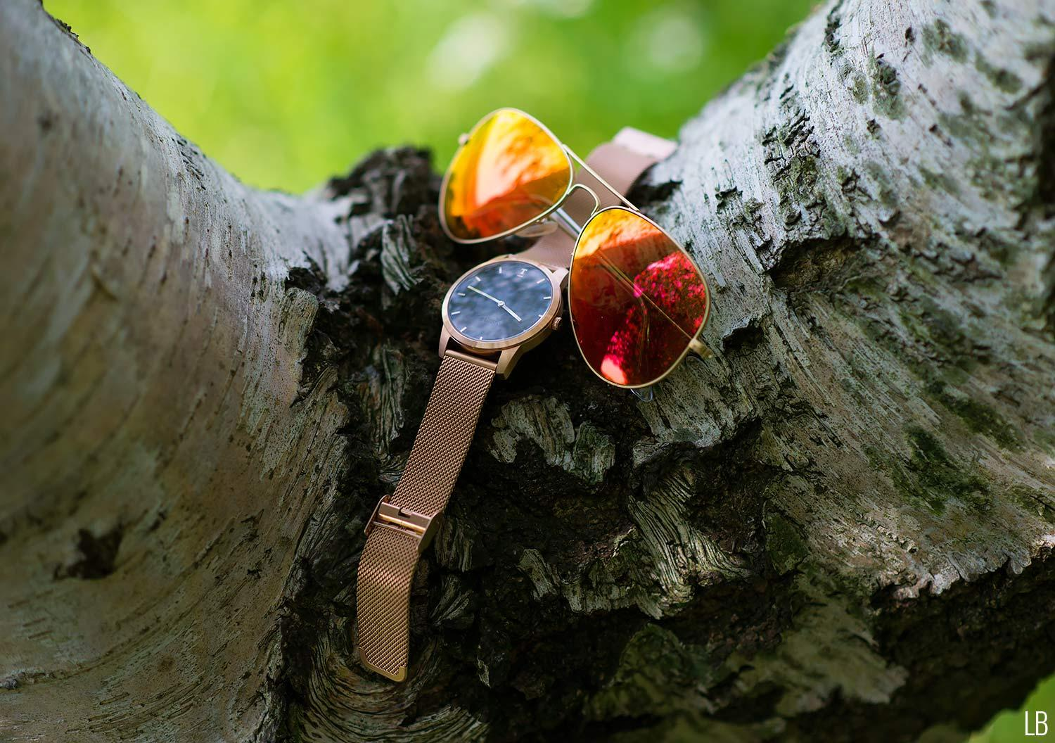 4 Rose Gold Watch Sunglasses