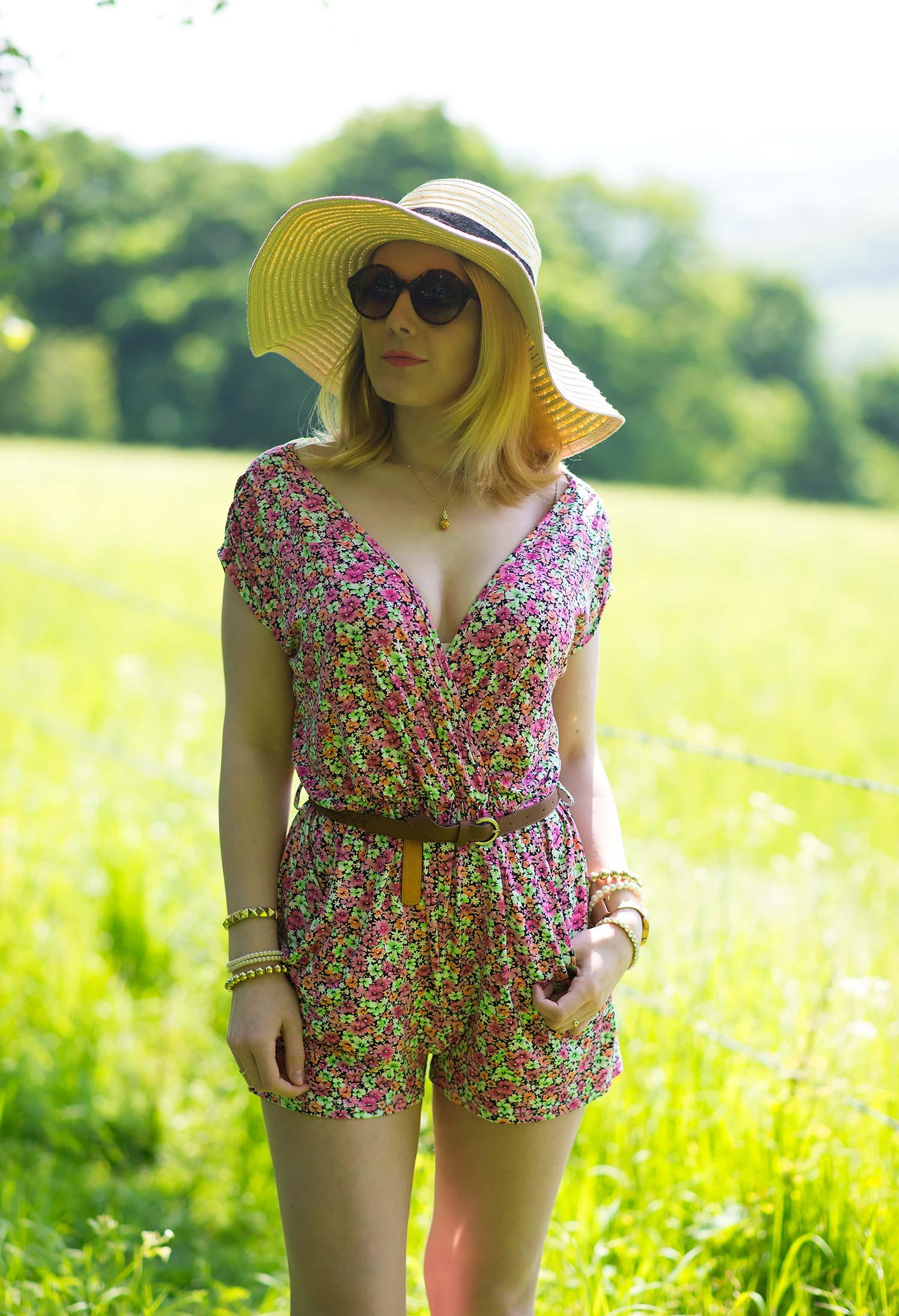 lipsy floral playsuit blogger