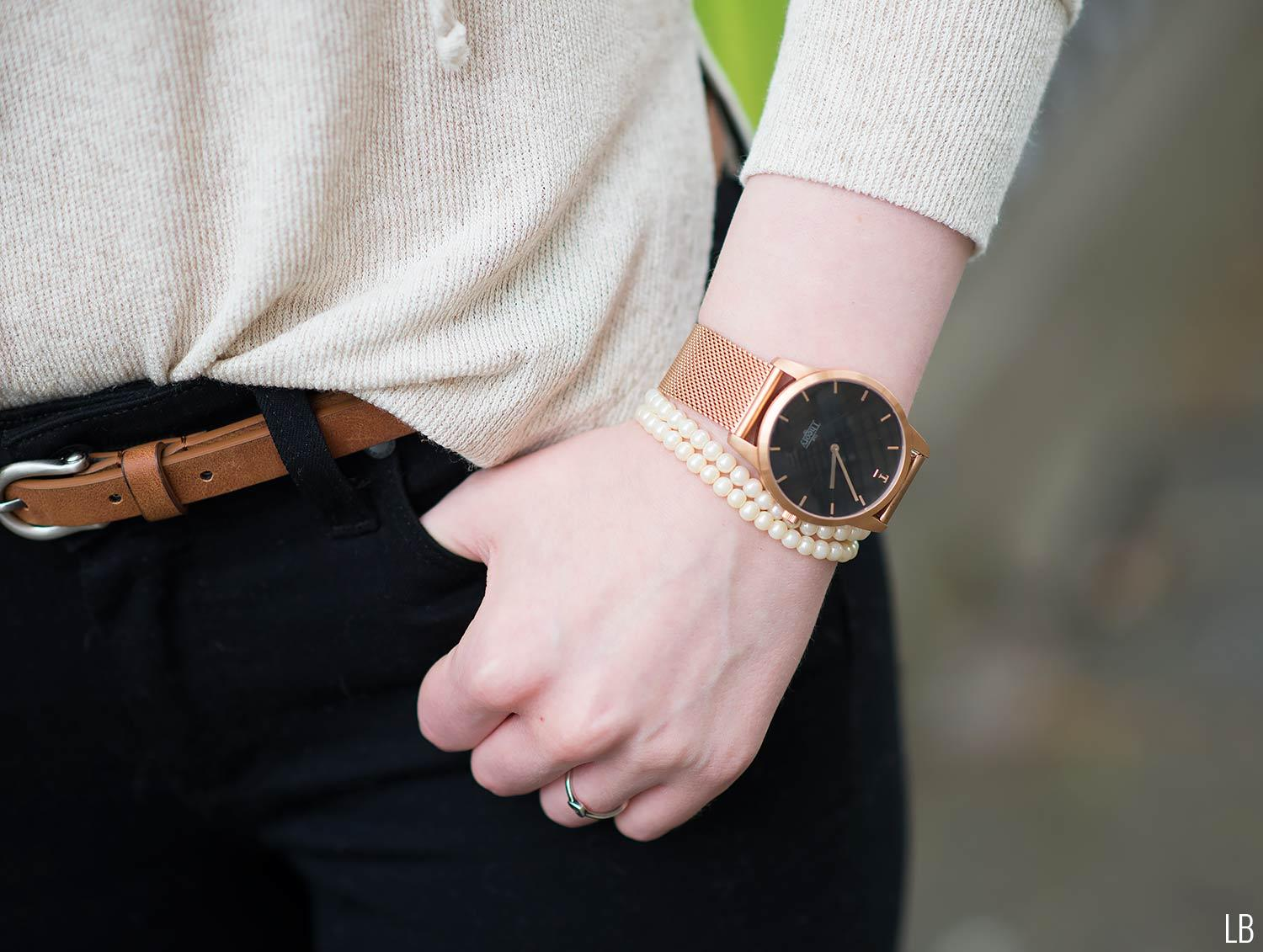 our theory of rose gold watch new
