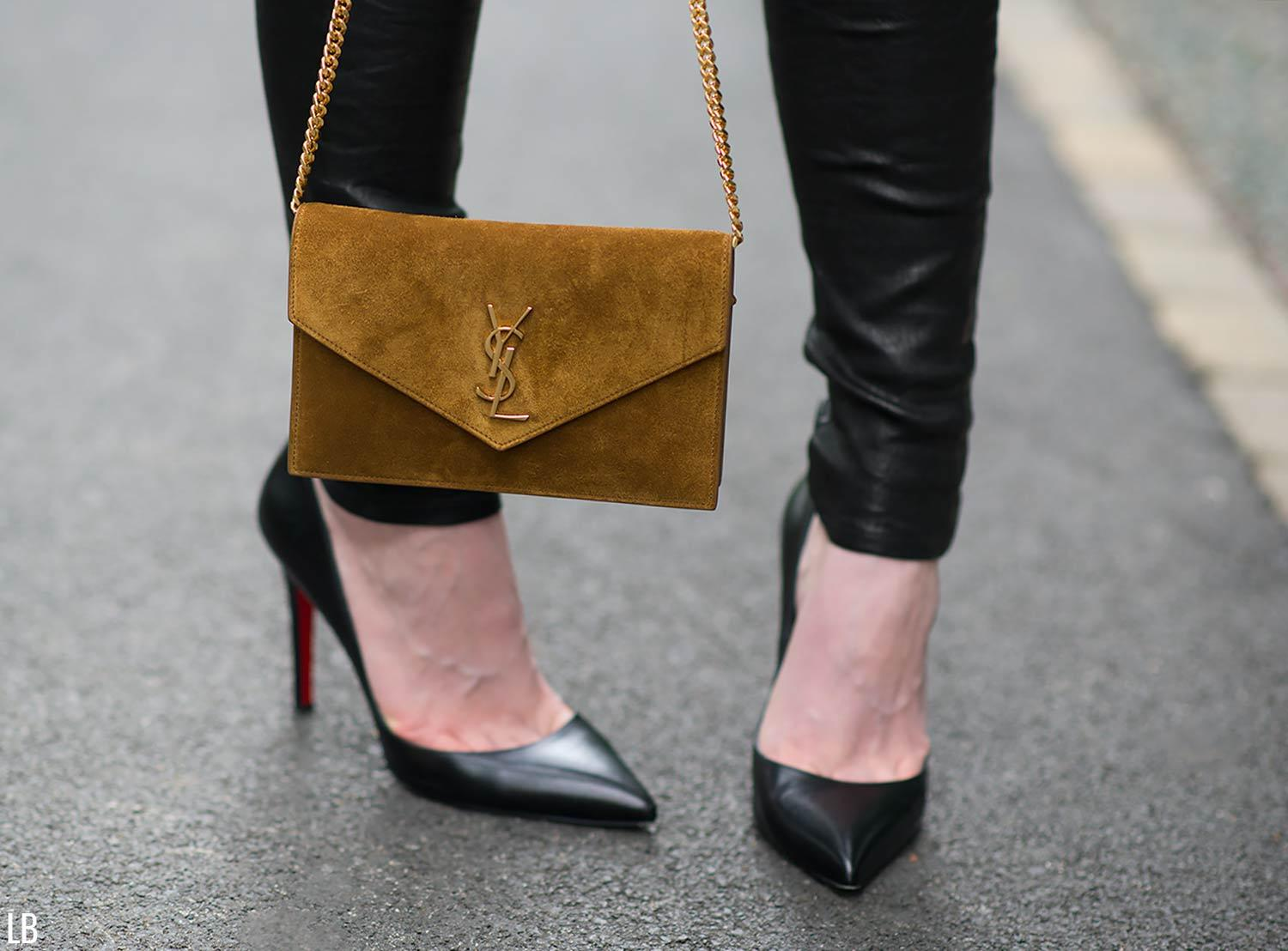 saint laurent envelope clutch