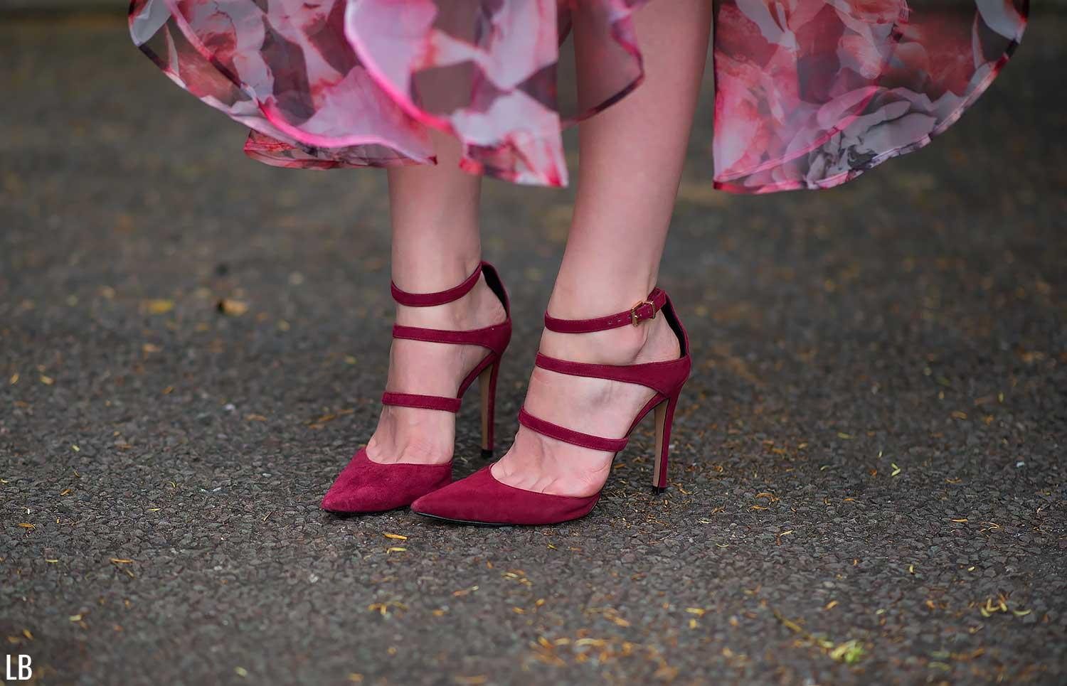 RAYE burgundy red heels shoes