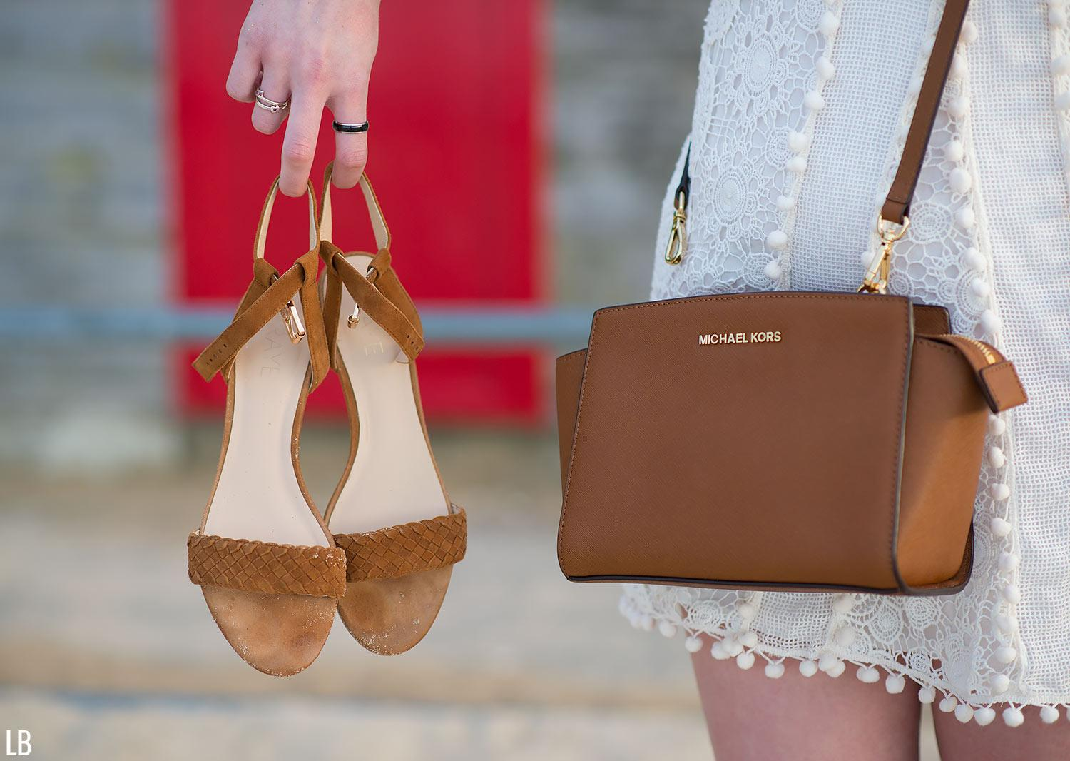 michael kors selma bag raye sandals