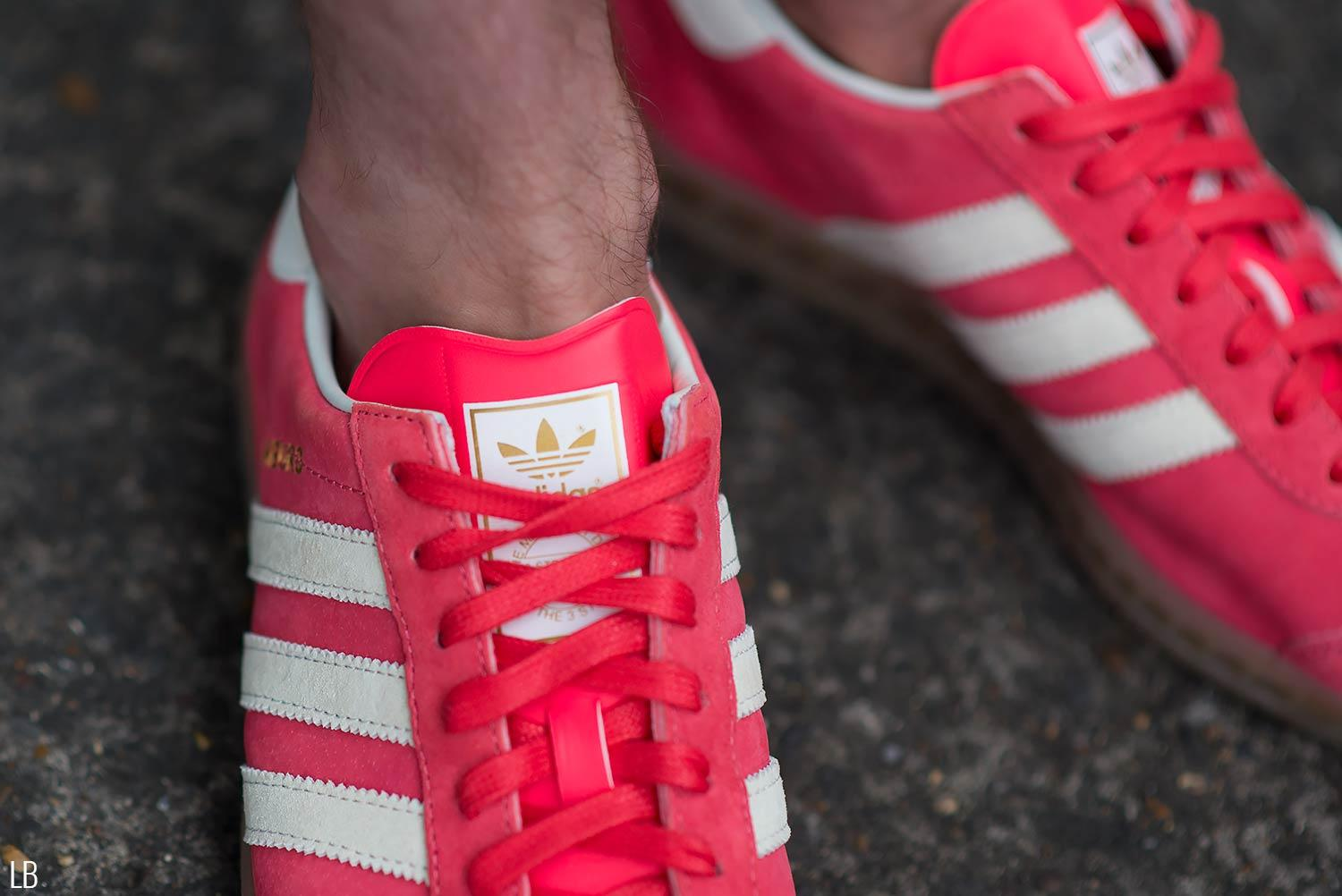 Men's Adidas Hamburg Shock Red Gum Trainers Sneakers Review