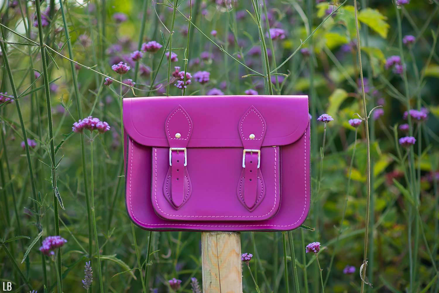 cambridge satchel purple bag