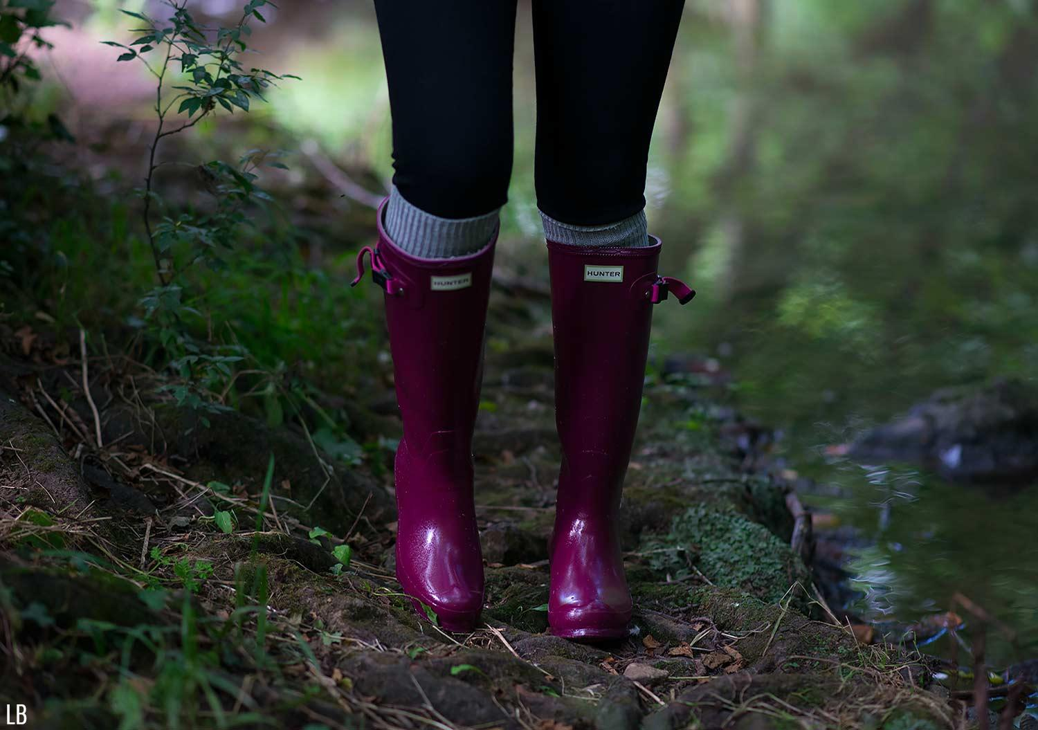 hunter norris field boots loganberry wellies