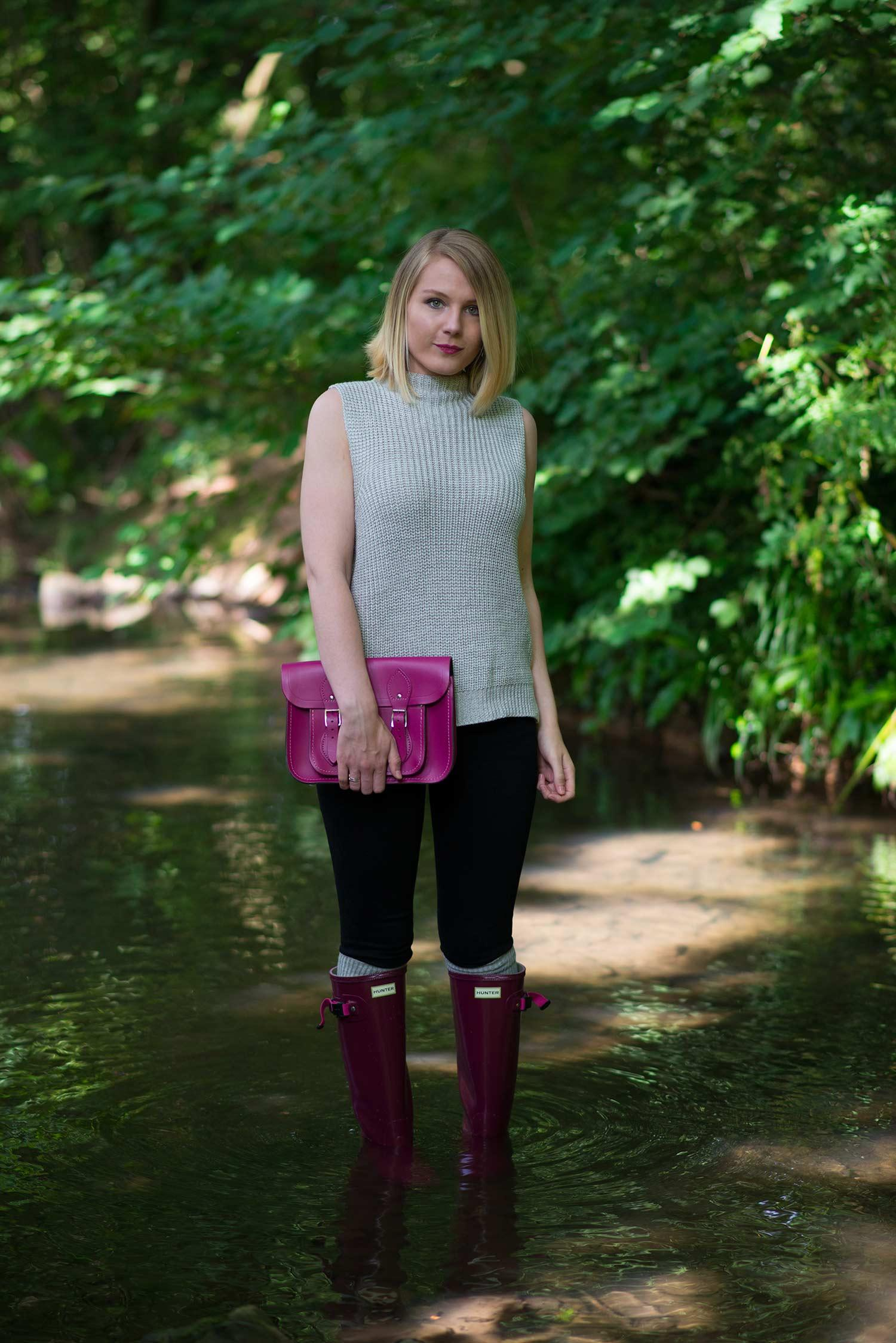 hunter wellies on a girl