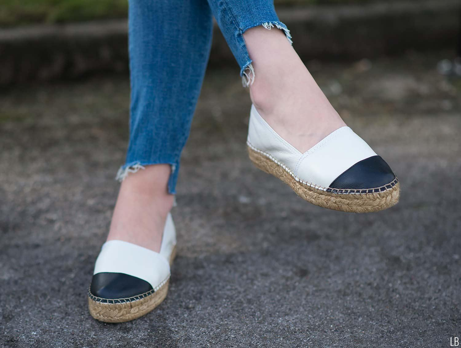 kurt-geiger-espadrilles-white-black-chanel