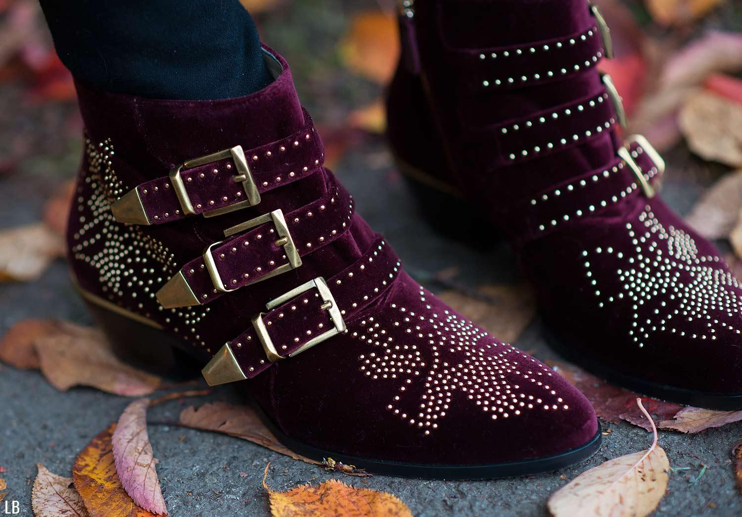 my new chloe susanna velvet burgundy ankle boots raindrops of sapphire. Black Bedroom Furniture Sets. Home Design Ideas
