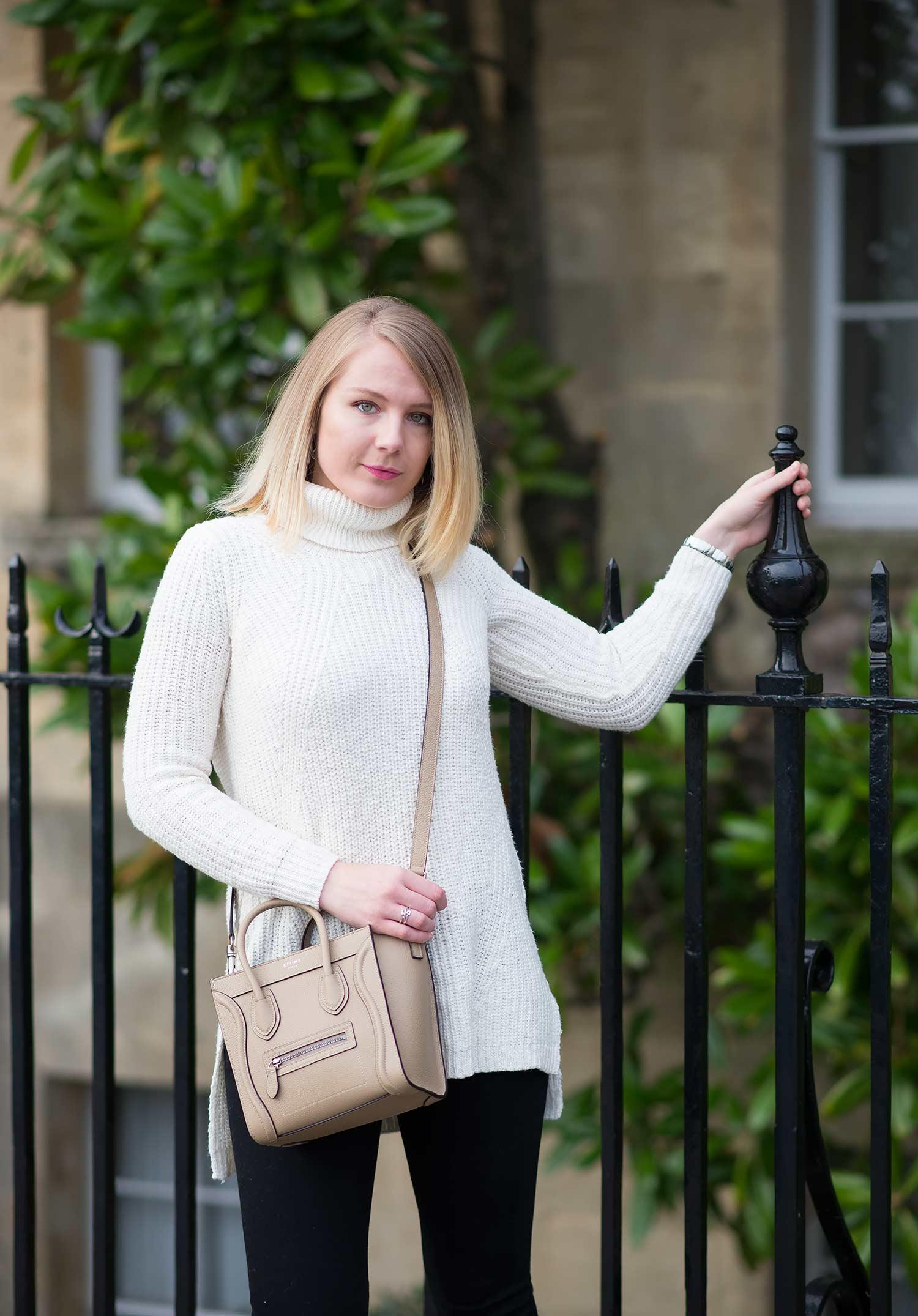 fashion-blogger-roll-neck-white-jumper-sweater-outfit-celine