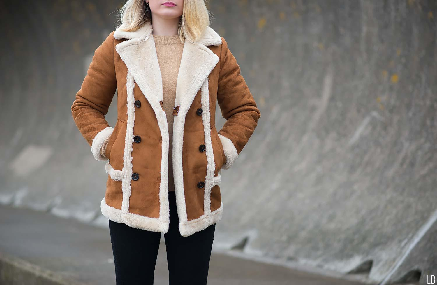 topshop-faux-fur-shearling-tan-coat-jacket