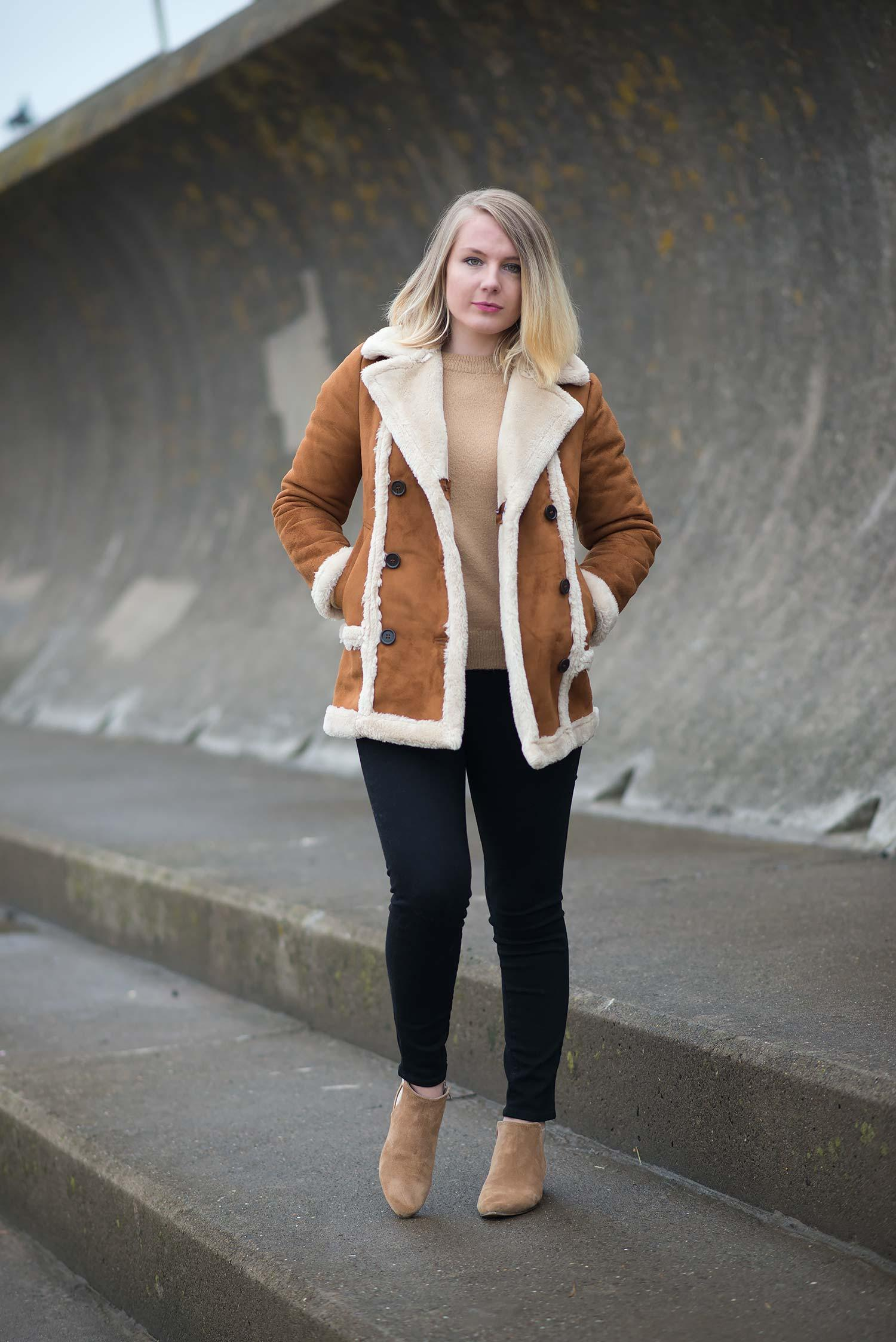 topshop-faux-fur-shearling-tan-coat-jeans