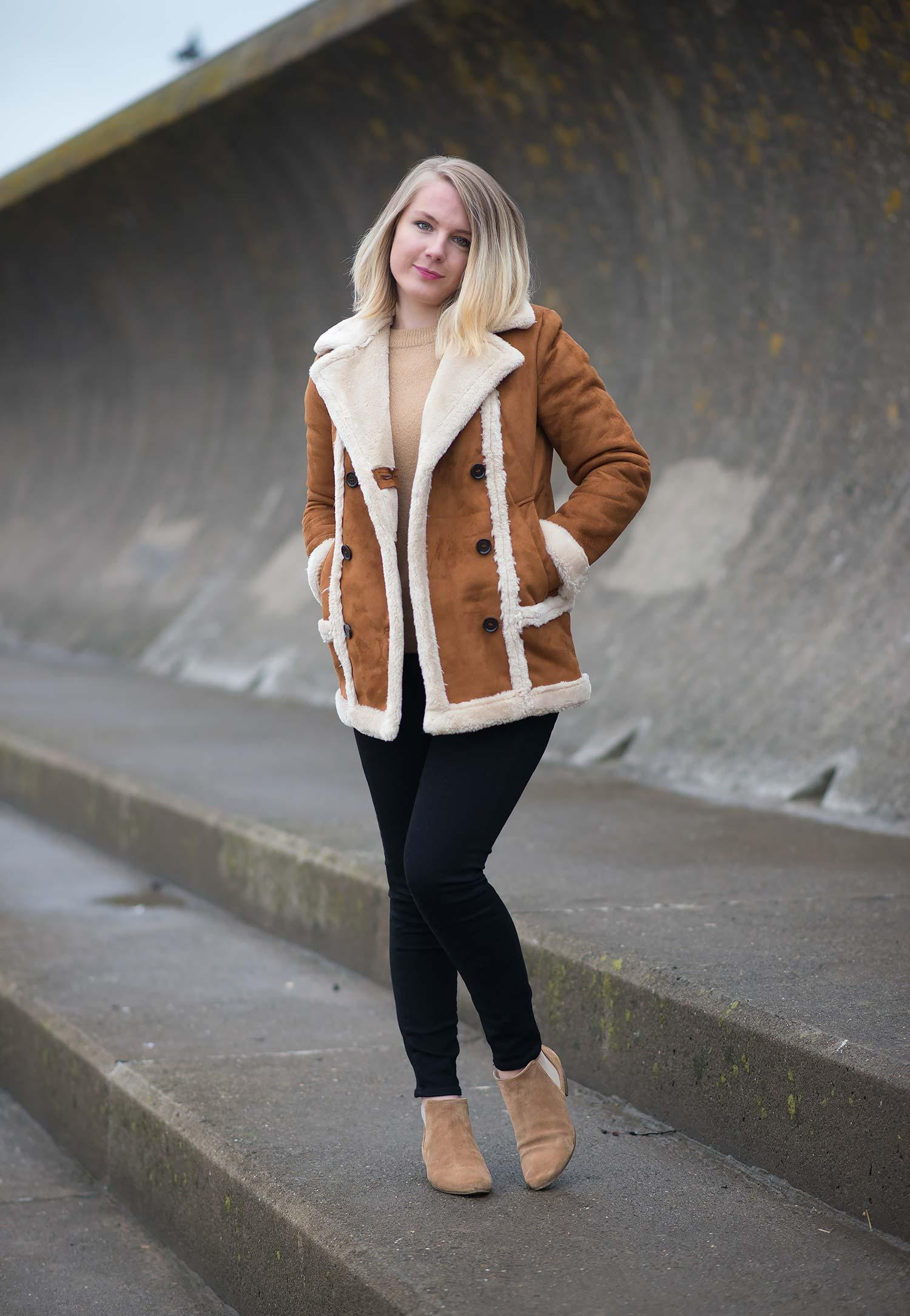 topshop-faux-fur-shearling-tan-coat-uk-blogger