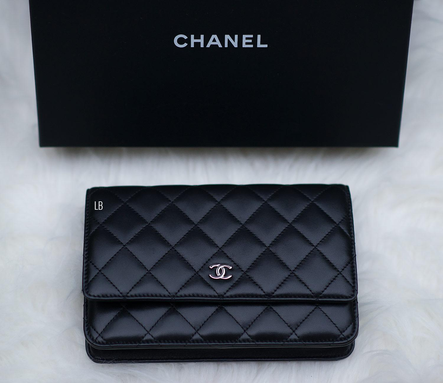 My New Chanel Wallet On Chain  WOC  Bag In Black  8895eb1d5