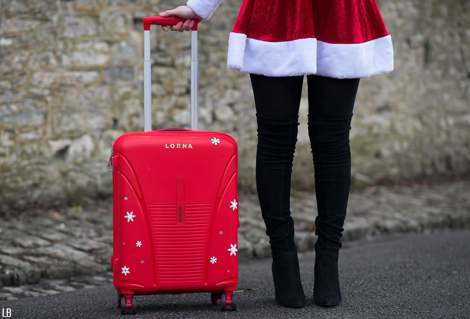 personalised-american-tourister-luggage-case-red