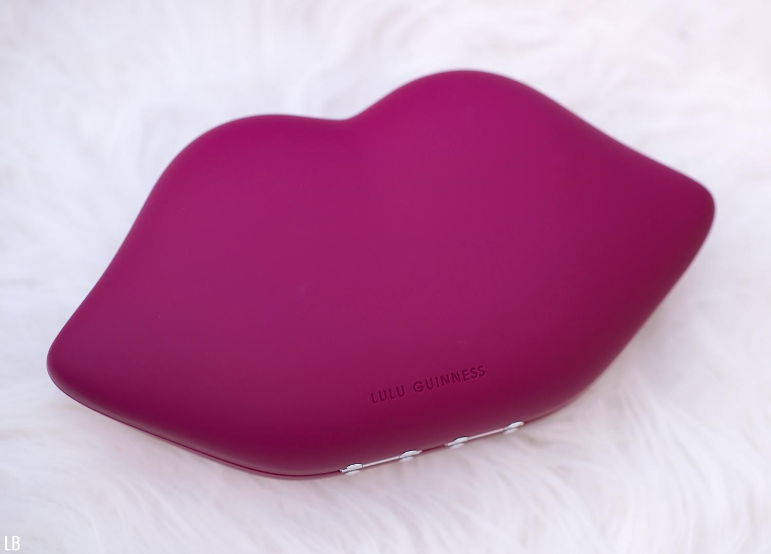 Lulu Guinness Cassis Powder Coated Lips Clutch 3