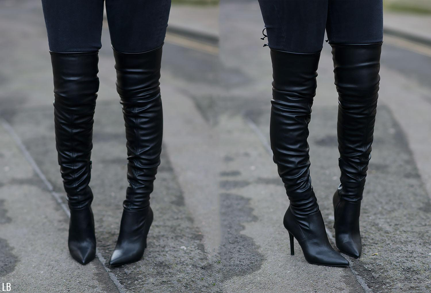 aldo asteille black leather thigh high boots
