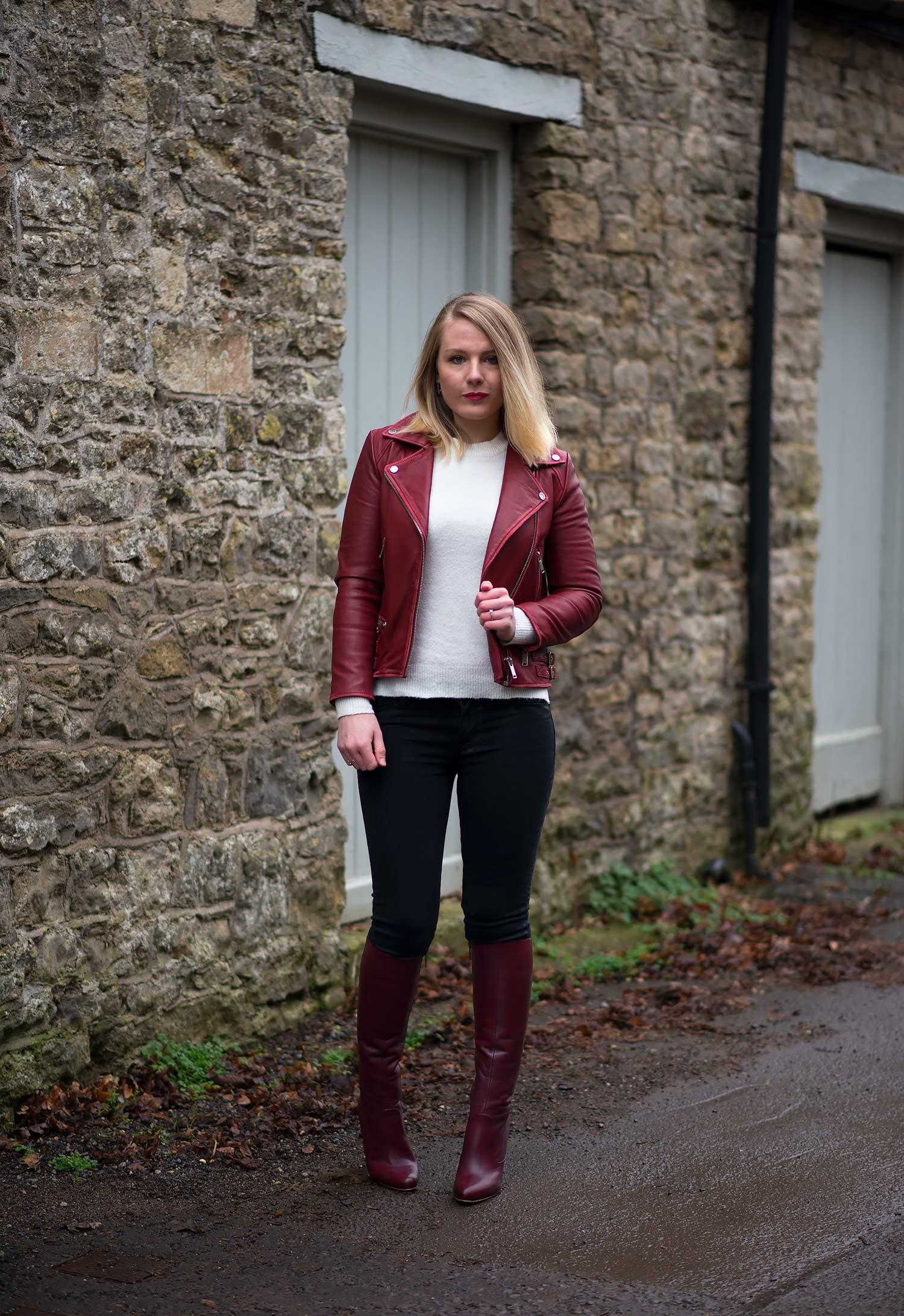 lorna-burford-burgundy-red-leather-jacket-with-boots