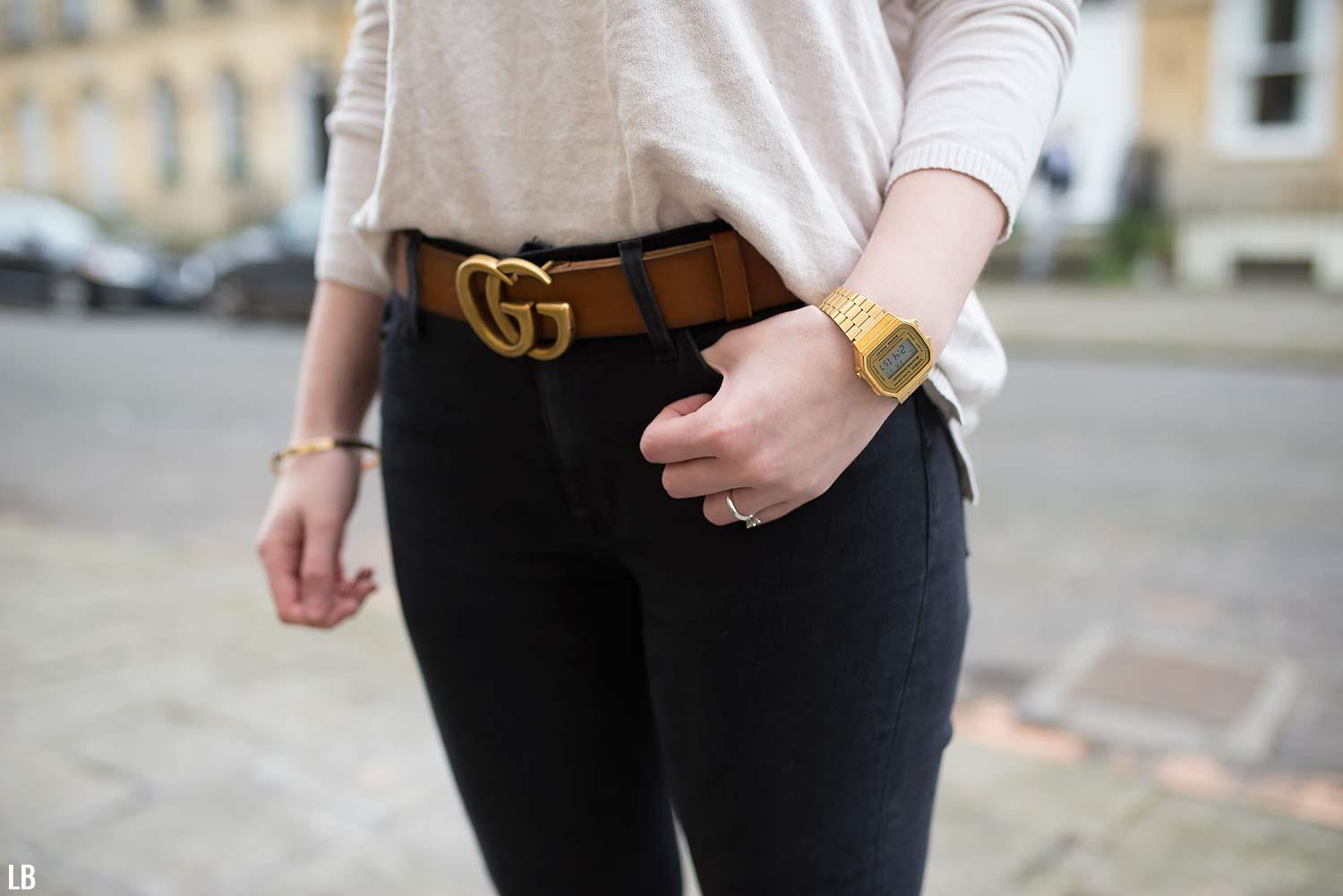 5ff16417ddc My Gucci Double GG Tan Belt With Gold Buckle Review