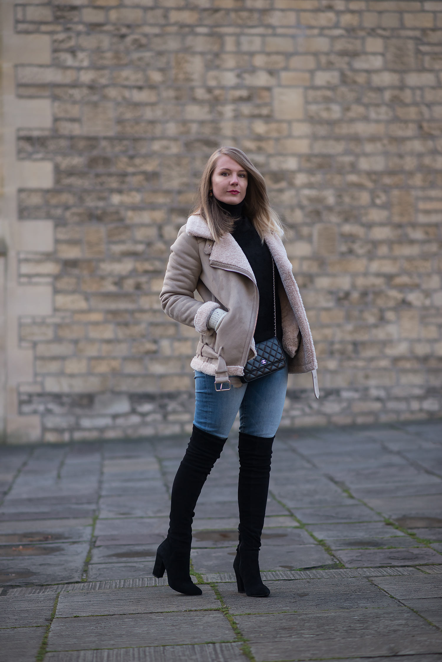 654a80164cf What I Was Wearing  Coat – Zara Scarf – Topshop Jeans – MOTHER Boots – Ted    Muffy (similar) Bag – Chanel Gloves – Urban Outfitters