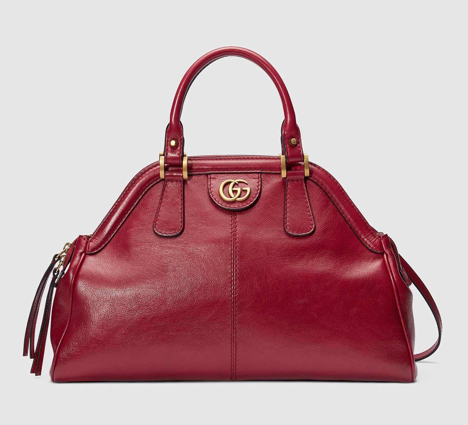 d0845d4ad316 GUCCI RE(BELLE) MEDIUM RED TOP HANDLE TOTE