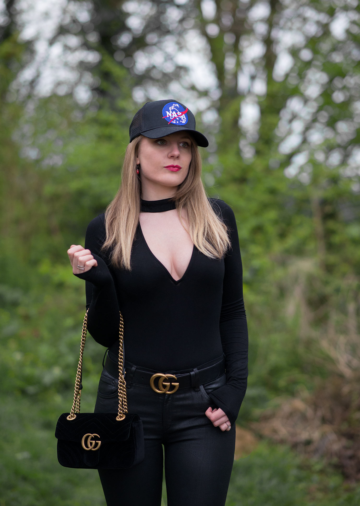 Styling A Nasa Cap With Gucci Accessories  1d6ce07e5f4
