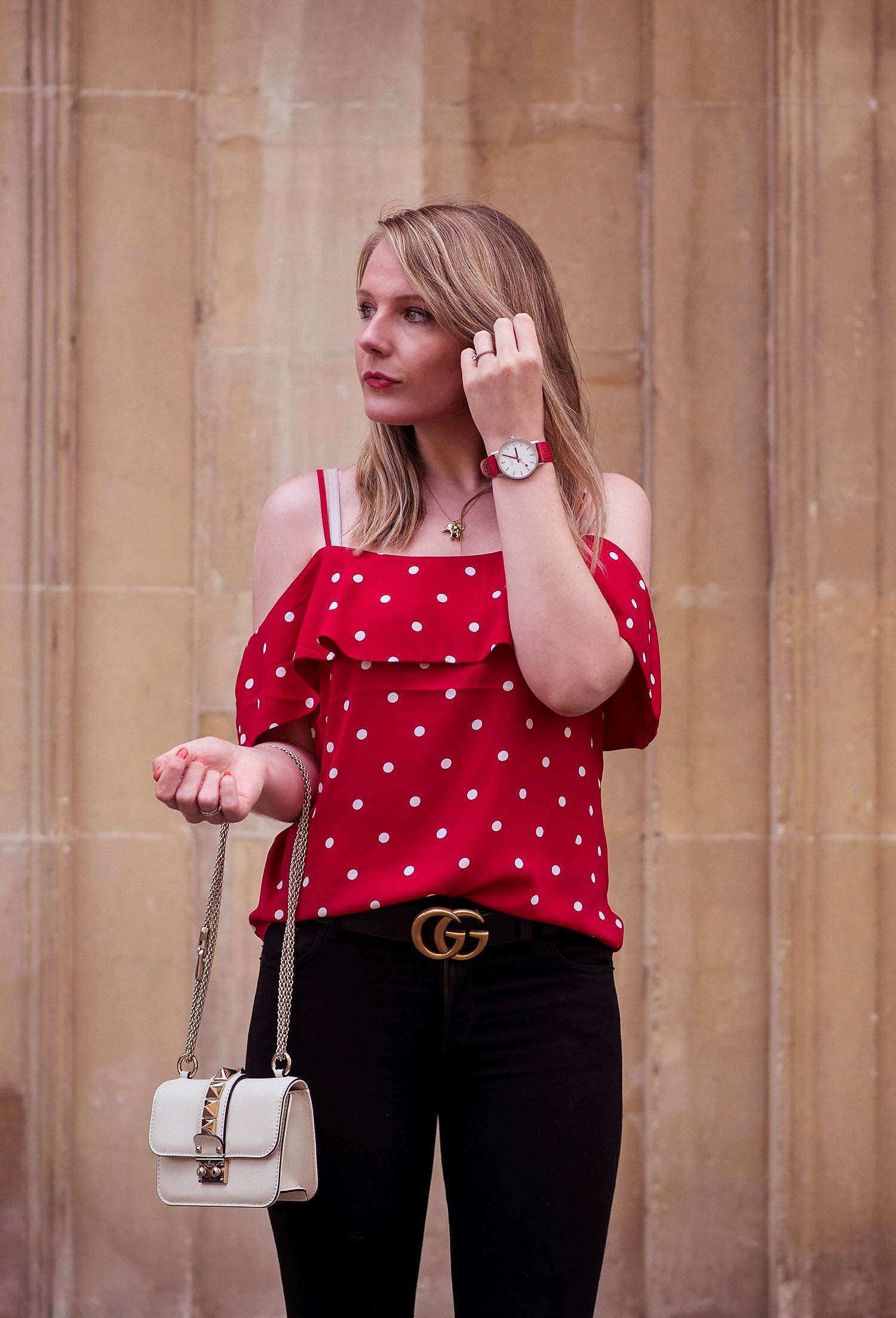 The Red Polka Dot Top