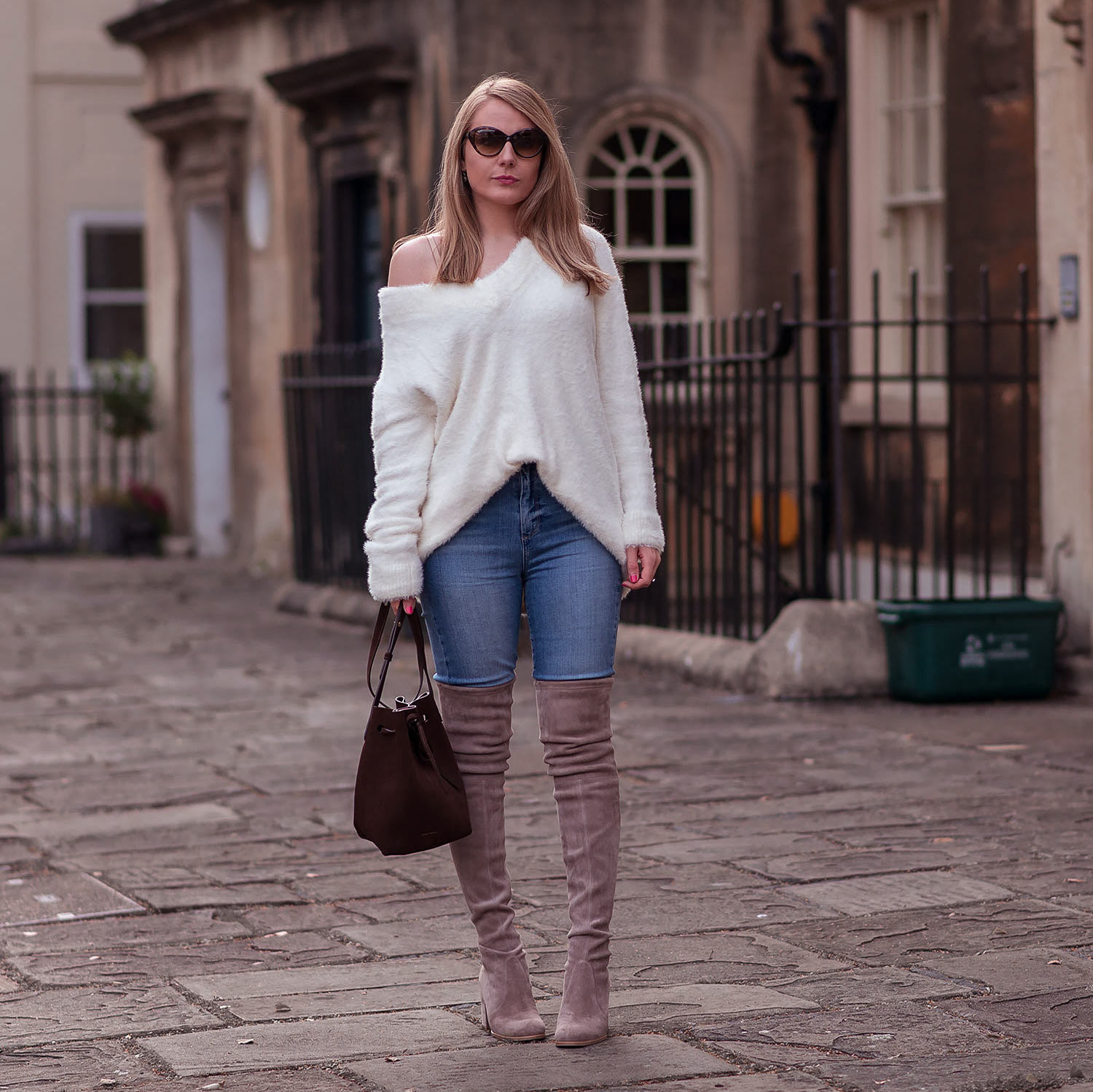 Oversized Knits & Over The Knee Boots