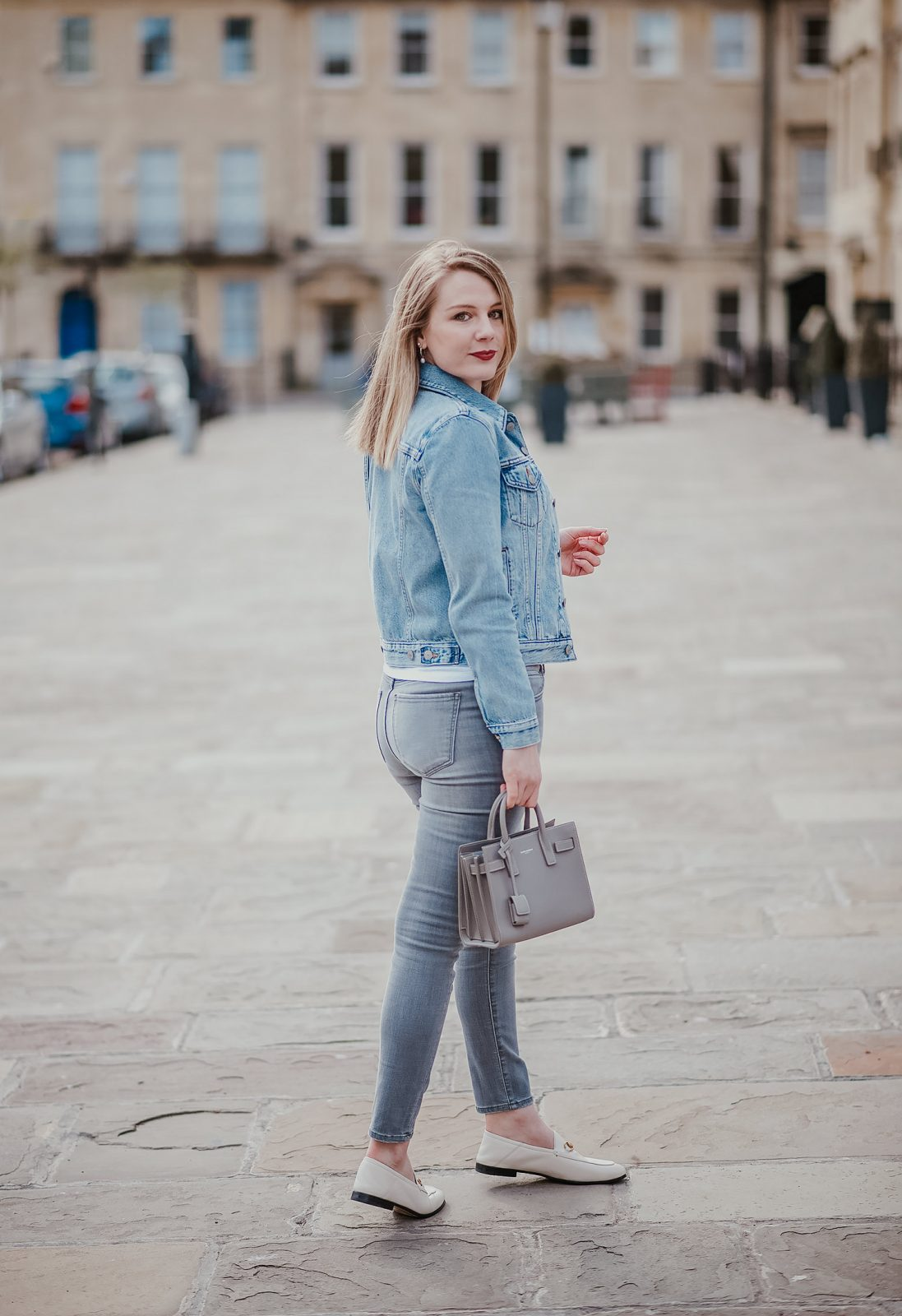 Grey And Blue Double Denim